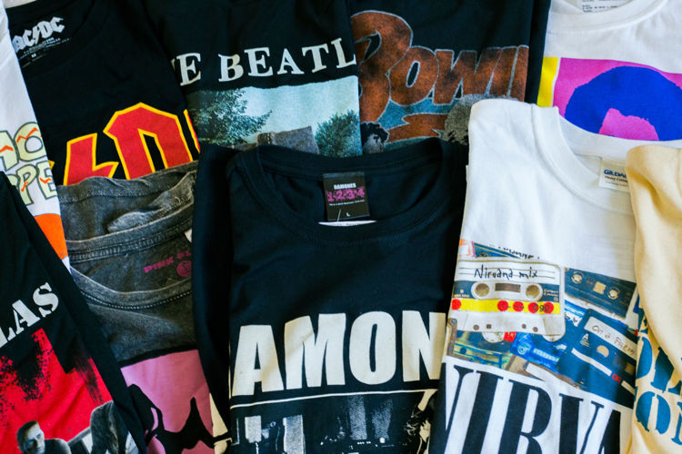 Picture of Men & Women Vintage Music Bands T-Shirts - 40 lbs (Good and Moderate Qualities)