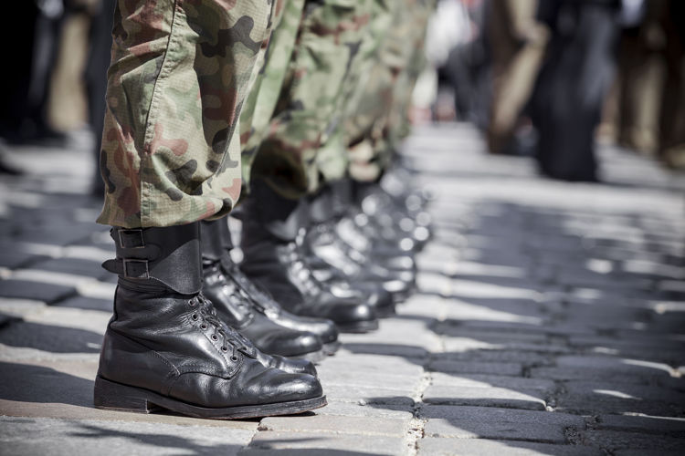 Picture of Men & Women Military Black Boots -  45 lbs (Good Quality)
