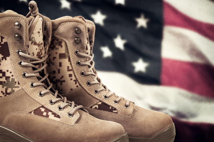 Picture of Men & Women Military Tan Boots - 45 lbs (Good Quality)