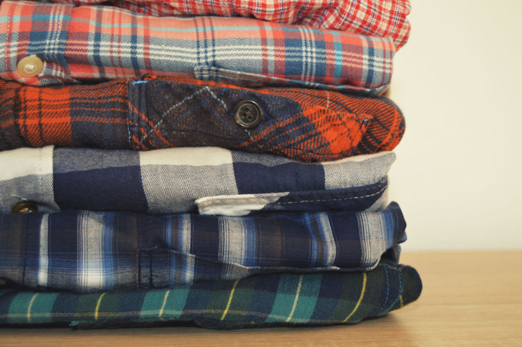Picture of Men's Flannel Plaid Shirts - 45 lbs (Good and Moderate Quality)