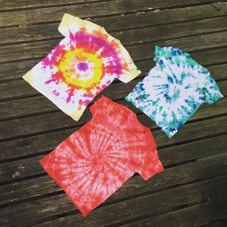 Picture of Men & Women Tie Dye T-shirts - 45 lbs (Good Quality)