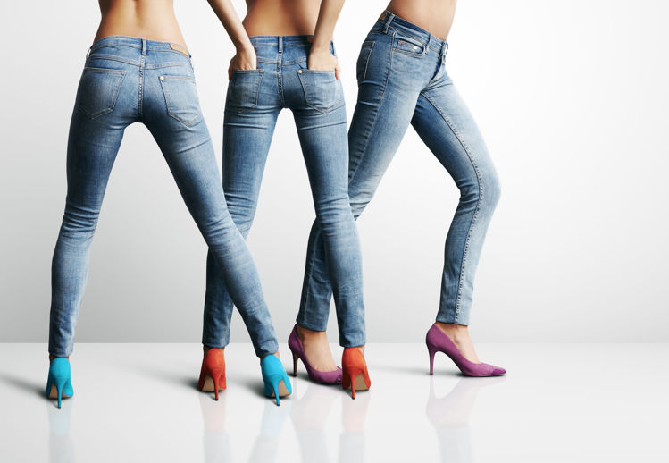Picture of Women's Skinny Jeans - 45 lbs (Moderate Quality)