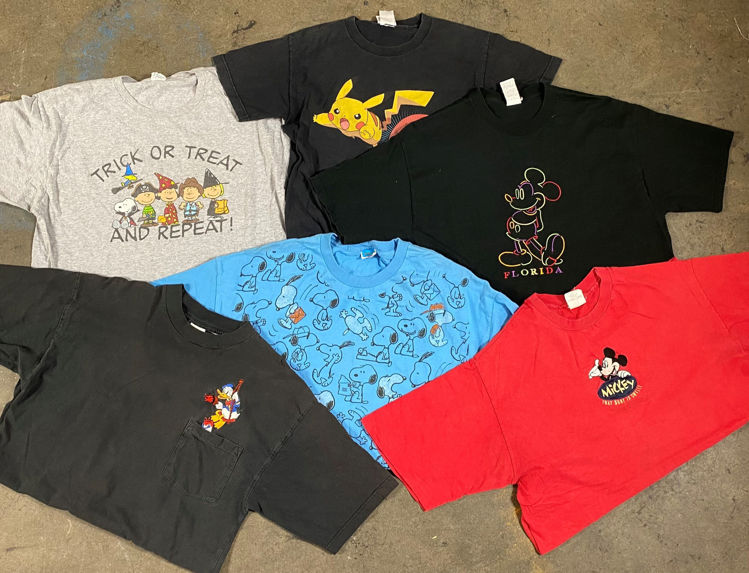 Picture of Men's Cartoon/ Animal Prints T-shirts – 45 lbs. (Good Quality)