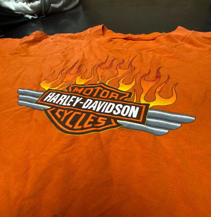 Picture of Men & Women Vintage T-shirts Harley, Nascar, Hard Rock Café, Planet Hollywood - 45 lbs (Good and Moderate Quality)